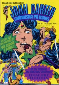 Cover Thumbnail for John Carter (Atlantic Förlags AB, 1978 series) #3/1978