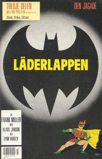 Cover Thumbnail for Läderlappen (Semic, 1987 series) #3/1987