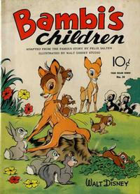 Cover Thumbnail for Four Color (Dell, 1942 series) #30 - Bambi's Children
