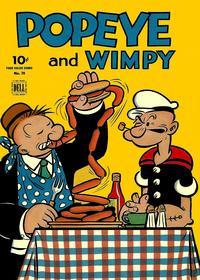 Cover Thumbnail for Four Color (Dell, 1942 series) #70 - Popeye and Wimpy