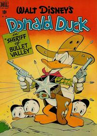 Cover Thumbnail for Four Color (Dell, 1942 series) #199 - Walt Disney's Donald Duck in Sheriff of Bullet Valley