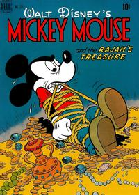 Cover Thumbnail for Four Color (Dell, 1942 series) #231 - Walt Disney's Mickey Mouse and the Rajah's Treasure