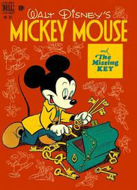 Cover Thumbnail for Four Color (Dell, 1942 series) #261 - Walt Disney's Micky Mouse and the Missing Key