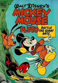 Cover Thumbnail for Four Color (Dell, 1942 series) #279 - Walt Disney's Mickey Mouse and Pluto Battle the Giant Ants