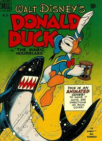 Cover Thumbnail for Four Color (Dell, 1942 series) #291 - Walt Disney's Donald Duck in The Magic Hourglass