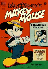 Cover Thumbnail for Four Color (Dell, 1942 series) #296 - Walt Disney's Mickey Mouse in Private Eye for Hire