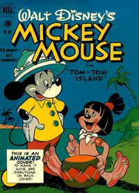 Cover for Four Color (Dell, 1942 series) #304 - Walt Disney's Mickey Mouse in Tom-Tom Island