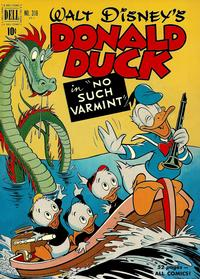 Cover Thumbnail for Four Color (Dell, 1942 series) #318 - Walt Disney's Donald Duck in No Such Varmint