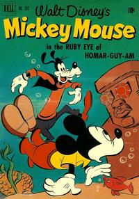 Cover Thumbnail for Four Color (Dell, 1942 series) #343 - Walt Disney's Mickey Mouse in The Ruby Eye of Homar-guy-am