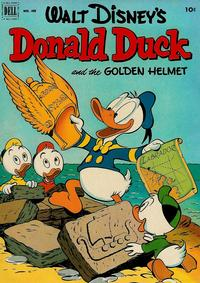 Cover Thumbnail for Four Color (Dell, 1942 series) #408 - Walt Disney's Donald Duck and the Golden Helmet