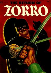 Cover Thumbnail for Four Color (Dell, 1942 series) #425 - The Return of Zorro