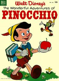 Cover Thumbnail for Four Color (Dell, 1942 series) #545 - Walt Disney's The Wonderful Adventures of Pinocchio