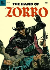 Cover Thumbnail for Four Color (Dell, 1942 series) #574 - The Hand of Zorro