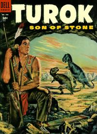 Cover Thumbnail for Four Color (Dell, 1942 series) #596 - Turok Son of Stone