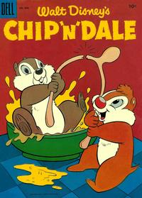 Cover Thumbnail for Four Color (Dell, 1942 series) #636 - Walt Disney's Chip 'n' Dale