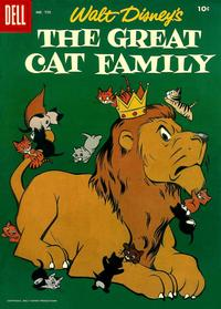 Cover Thumbnail for Four Color (Dell, 1942 series) #750 - Walt Disney's The Great Cat Family