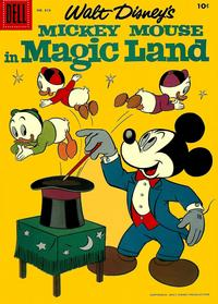 Cover Thumbnail for Four Color (Dell, 1942 series) #819 - Walt Disney's Mickey Mouse in Magic Land