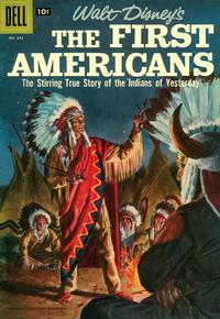 Cover for Four Color (Dell, 1942 series) #843 - Walt Disney's The First Americans [Price variant]