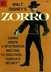Cover Thumbnail for Four Color (Dell, 1942 series) #933 - Walt Disney's Zorro