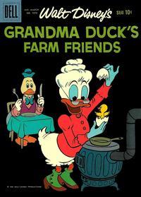 Cover Thumbnail for Four Color (Dell, 1942 series) #1073 - Walt Disney's Grandma Duck's Farm Friends