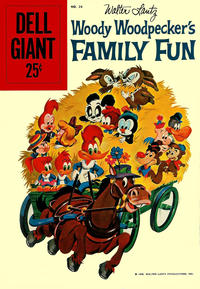 Cover Thumbnail for Dell Giant (Dell, 1959 series) #24 - Walter Lantz Woody Woodpecker's Family Fun