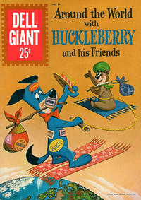 Cover Thumbnail for Dell Giant (Dell, 1959 series) #44 - Around the World with Huckleberry and His Friends