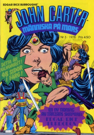 Cover for John Carter (Atlantic Förlags AB, 1978 series) #3/1978