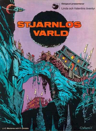Cover for Linda och Valentins äventyr (Carlsen/if [SE], 1975 series) #1 - Stjärnlös värld