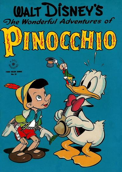 Cover for Four Color (Dell, 1942 series) #92 - Walt Disney's The Wonderful Adventures of Pinocchio