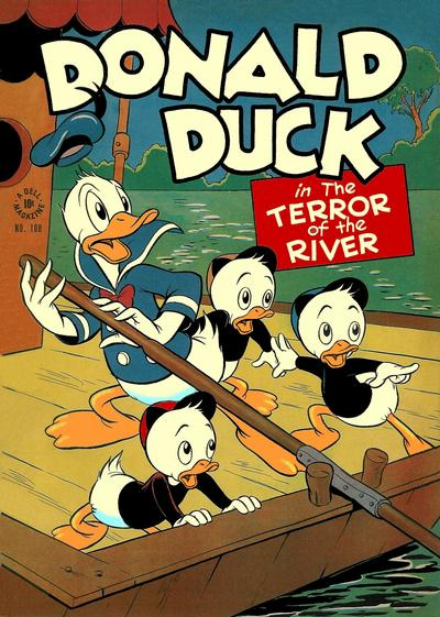 Cover for Four Color (Dell, 1942 series) #108 - Donald Duck in the Terror of the River