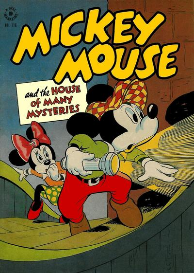 Cover for Four Color (Dell, 1942 series) #116 - Mickey Mouse and the House of Many Mysteries