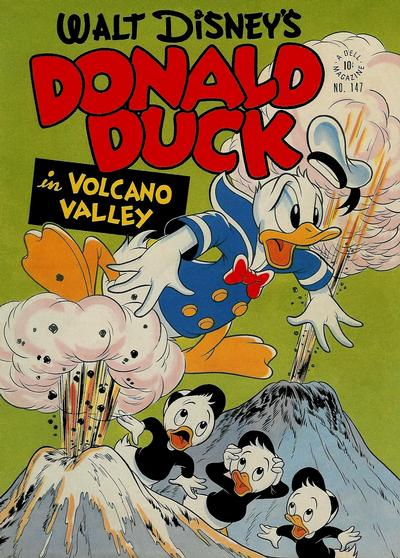 Cover for Four Color (Dell, 1942 series) #147 - Walt Disney's Donald Duck in Volcano Valley