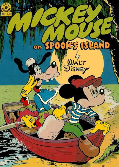Cover for Four Color (Dell, 1942 series) #170 - Mickey Mouse on Spook's Island