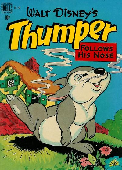 Cover for Four Color (Dell, 1942 series) #243 - Walt Disney's Thumper Follows His Nose