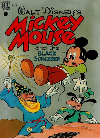 Cover for Four Color (Dell, 1942 series) #248 - Walt Disney's Mickey Mouse and the Black Sorcerer