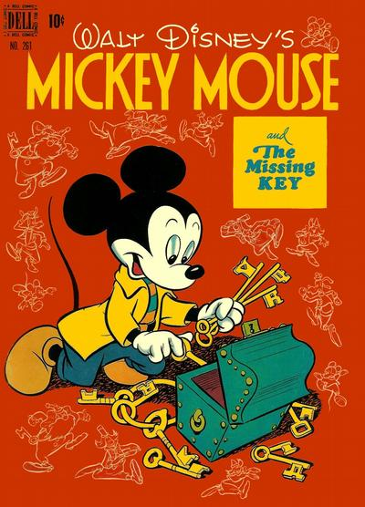 Cover for Four Color (Dell, 1942 series) #261 - Walt Disney's Micky Mouse and the Missing Key