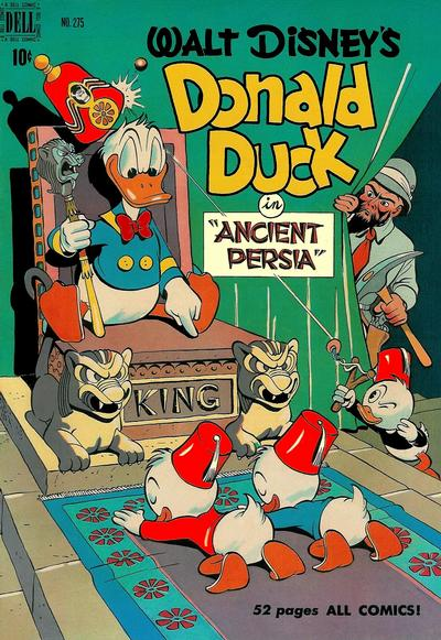 Cover for Four Color (Dell, 1942 series) #275 - Walt Disney's Donald Duck in Ancient Persia
