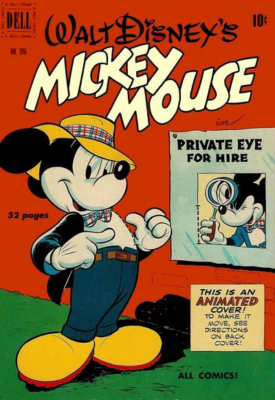 Cover for Four Color (Dell, 1942 series) #296 - Walt Disney's Mickey Mouse in Private Eye for Hire