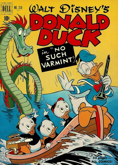 Cover for Four Color (Dell, 1942 series) #318 - Walt Disney's Donald Duck in No Such Varmint