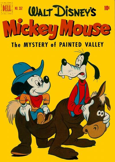 Cover for Four Color (Dell, 1942 series) #352 - Walt Disney's Mickey Mouse in The Mystery of Painted Valley