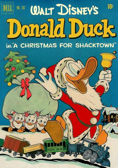 Cover for Four Color (Dell, 1942 series) #367 - Walt Disney's Donald Duck in A Christmas for Shacktown