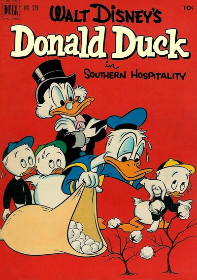 Cover for Four Color (Dell, 1942 series) #379 - Walt Disney's Donald Duck in Southern Hospitality