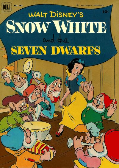 Cover for Four Color (Dell, 1942 series) #382 - Walt Disney's Snow White and the Seven Dwarfs [Price variant]