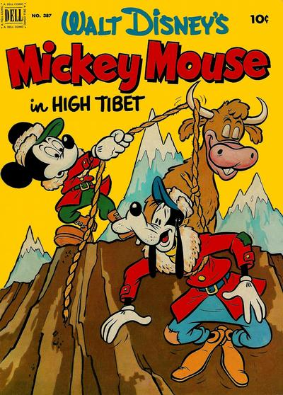 Cover for Four Color (Dell, 1942 series) #387 - Walt Disney's Mickey Mouse in High Tibet
