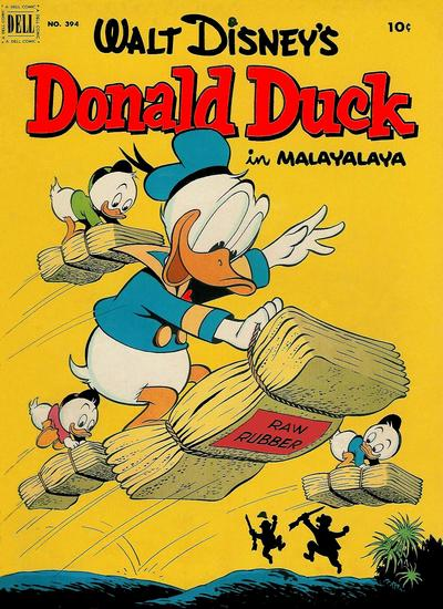 Cover for Four Color (Dell, 1942 series) #394 - Walt Disney's Donald Duck in Malayalaya