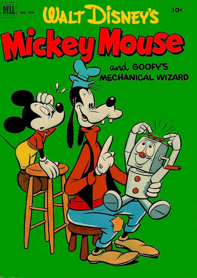 Cover for Four Color (Dell, 1942 series) #401 - Walt Disney's Mickey Mouse and Goofy's Mechanical Wizard