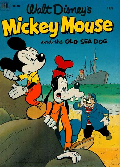Cover for Four Color (Dell, 1942 series) #411 - Walt Disney's Mickey Mouse and the Old Sea Dog