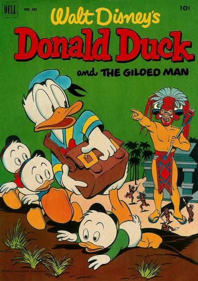 Cover for Four Color (Dell, 1942 series) #422 - Walt Disney's Donald Duck and The Gilded Man