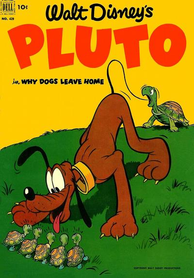 Cover for Four Color (Dell, 1942 series) #429 - Walt Disney's Pluto in Why Dogs Leave Home