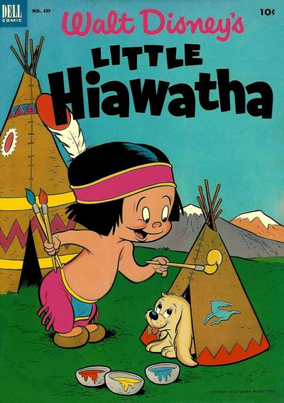 Cover for Four Color (Dell, 1942 series) #439 - Walt Disney's Little Hiawatha